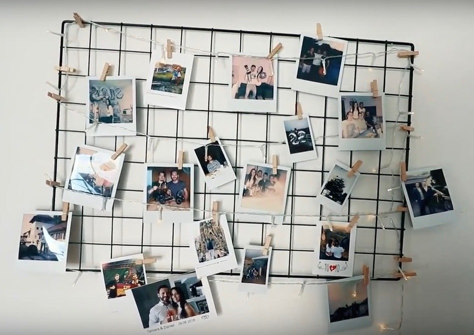 Polaroid Aufhängen